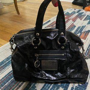 Coach Poppy Crinkle Patent Handbag